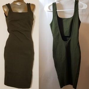 Olive green Windsor body dress